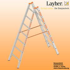 Layher Alu Sprossenstehleiter, 2x7 Spr.,L= 2,10m, Bockleiter Topic Typ 1039.007