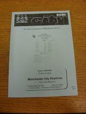 28/03/2000 Manchester City reservas V Port Vale reservas (cuatro páginas). gracias F