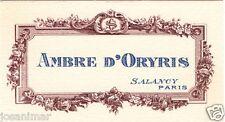 Carte Parfumée SALANCY Ambre d'Oryris - scented cards - perfume cards