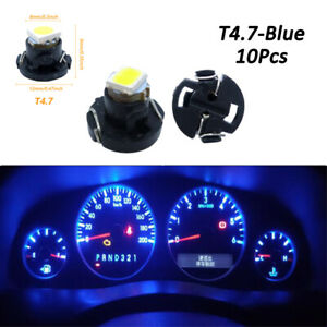 10x T4.7 Blue Neo Wedge LED Bulb Dash Climate Control Instrument Light Lamp