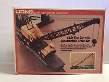 Vintage Lionel 6-9157 C&O Flat Car With Construction Crane Kit