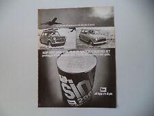 advertising Pubblicità 1973 OLIO AGIP SINT e INNOCENTI MINI 1000