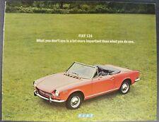 1971 Fiat 124 Brochure Sport Coupe Spider Wagon Special Sedan Excellent Original
