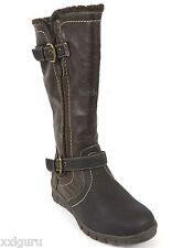 Hush Puppies Stiefel 37 KunstLEDER Braun Warm Teddyfutter Boots Wellness G NEU
