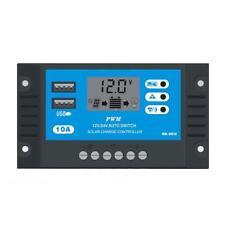 10A 12 V 24 V LCD Display PWM Solarladeregler Dual USB Panel Ladegerät