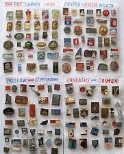 RUSSIA FROM EAST TO WEST 139 PINS LOT:FAR EAST-SIBERIA-URAL-NORTH-CENTER-SOUTH