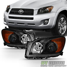 For 2009 2010 2011 2012 Toyota RAV4 Projector Headlights Blk Headlamp Left+Right