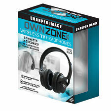 2655433e822 Sharper Image 30603 Own Zone, Wireless Rechargeable Headphones, Black