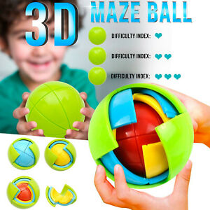3D Intellect Puzzle Ball Science Educational Toy Logical Training Kids Gift