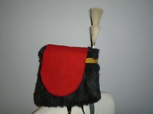 KINGS TROOP RHA BUSBY SIZE 59CM PLUME CORD AND BAG BRITISH ARMY ISSUE