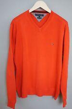 XGM209 Men Tommy Hilfiger Red V Neck Premium Cotton Jumper Size L