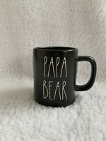 "Rae Dunn LL ""Papa Bear"" Black Coffee Mug New 2020"