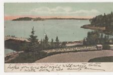 North East Harbor Me Looking East 1907 Usa Postcard 480a