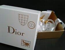 Authentic Christian Dior Empty Gift Box with Ribbon. New Logo Box