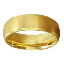 Tungsten Carbide Ring Comfort Fit Wedding Band Men Silver Gold Black Brush Top