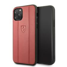 Ferrari Duro Funda De IPHONE 11 Pro Piel Auténtica Rojo 360 Grados Protección