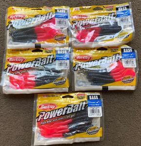 "5 Packets X Berkley Powerbait Bass Power Worm 7"" Sea Bass Fishing Bait Brand New"