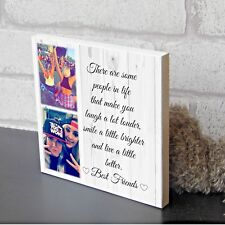 Large Personalised Best Friend Sister Plaque Keepsake Photo Block Present Gift