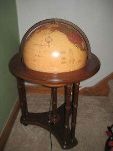 """THE CLASSICA 17"""" DIAMETER GLOBE BACKLIT WORLD CLASSIC SERIES FLOOR ON ROLLERS"""