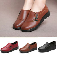 Women Fashion Comfortable Slip On Loafers Mom Shoes Flats Plus Size Side Zipper