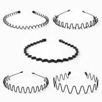 Men Women Wave Head Wear Alice Band Hoop Headband Iron Wire Hairband Accessories