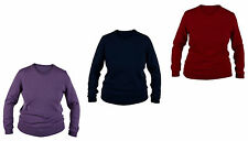 Women's No Pattern Scoop Neck None Wool Jumpers & Cardigans