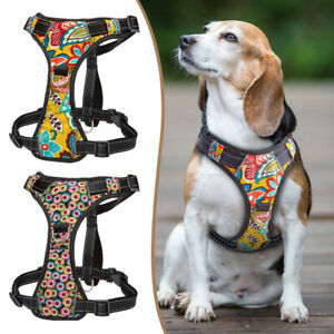 Front Leading Dog Harness No-pull Reflective Breathable Adjustable Padded Vest