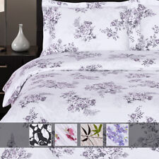 Luxury Printed Sheets 100% Pure Sateen Combed Cotton Deep Pocket Wrinkle Free