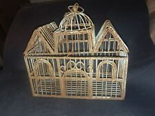 ANTIQUE 1900S WROUGHT IRON BIRD CAGE GREAT PATINA