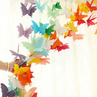 3D Hanging Butterfly Paper Garland Chain Home Wedding Birthday Party Banner