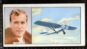 Tobacco Card, Carreras, FAMOUS AIRMEN & AIRWOMEN, 1936, James Allan Mollison,#38