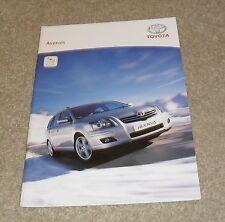 Toyota Avensis Brochure 2006 - T2 T3 T3S T3X T Spirit T180 2.2 D4D 2.0 1.8 VVTI