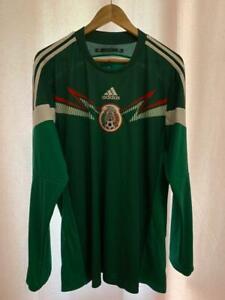 MEXICO NATIONAL TEAM 2014/2015 HOME FOOTBALL SHIRT JERSEY CAMISETA SZ XL ADIDAS