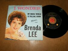 BRENDA LEE - I WONDER - MY WHOLE WORLD IS FALLING  - 45 PS / LISTEN - TEEN ROCK