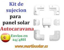 Kit de Soportes para Placa panel Solar, Esquineras + laterales + Pasa cables.