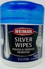 Weiman Silver Polish & Tarnish Remover Cleaner Wipes 20 Count