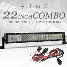 """Tri-row 22inch 120W LED Work Light Bar Combo Offroad Driving 4WD Truck 20"""" +Wire"""