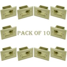 10x 2Gang Wall Plate Recessed EZ Mount Low Voltage Pass Through A/V Cable