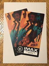 Star Wars : Han Solo IMAX Collectible Ticket Regal Cinema Movie Limited Edition