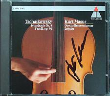 Kurt MASUR Signiert TCHAIKOVSKY Symphony No.4 Gewandhausorchester Leipzig CD