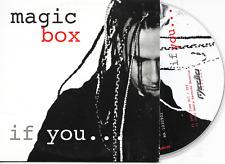 MAGIC BOX - If you CD SINGLE 2TR Italo Dance 2003 Dutch Cardsleeve.