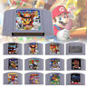 For Nintendo 64 N64 Mario Smash Bros Mario Party Game Cartridge Console US Card