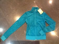 """NWT Juicy Couture New & Genuine Ladies Small Green Cotton Jacket & """"J"""" Zip Pull"""