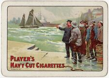Playing Cards 1 Single Swap Card Old Wide PLAYERS Navy Cut CIGARETTES Fishermen
