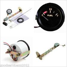 """2"""" 52mm Black Surface Car Fuel Level Measurement LED Gauge Meter E-1/2-F Pointer"""