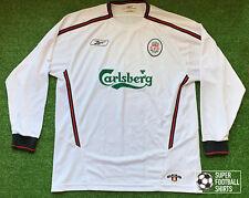 "Liverpool 2003/04 - Away - Reebok Jersey - Size: L ( (42-44"") - Long Sleeve"