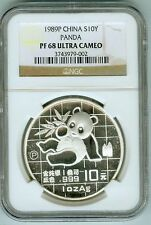 Scarce NGC PROOF 68 Ultra Cameo 1989 China Silver 10Y