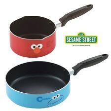 Sesame Street Saucepan & Frying Pan Elmo and Cookie Monster Design from japan