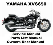 YAMAHA XVS650 V-STAR DRAG Owners Workshop Service Repair Parts Manual PDF on CDR
