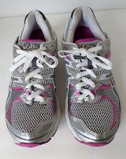 "Asics ""Gel Landreth 7"" gray, white and fuschia running shoes. Women's 9"